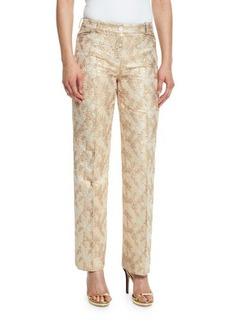 Michael Kors Jacquard Straight-Leg Pants