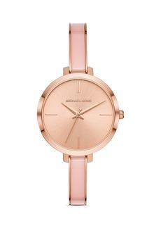Michael Kors Jaryn Rose Gold-Tone Bangle Bracelet Watch, 36mm