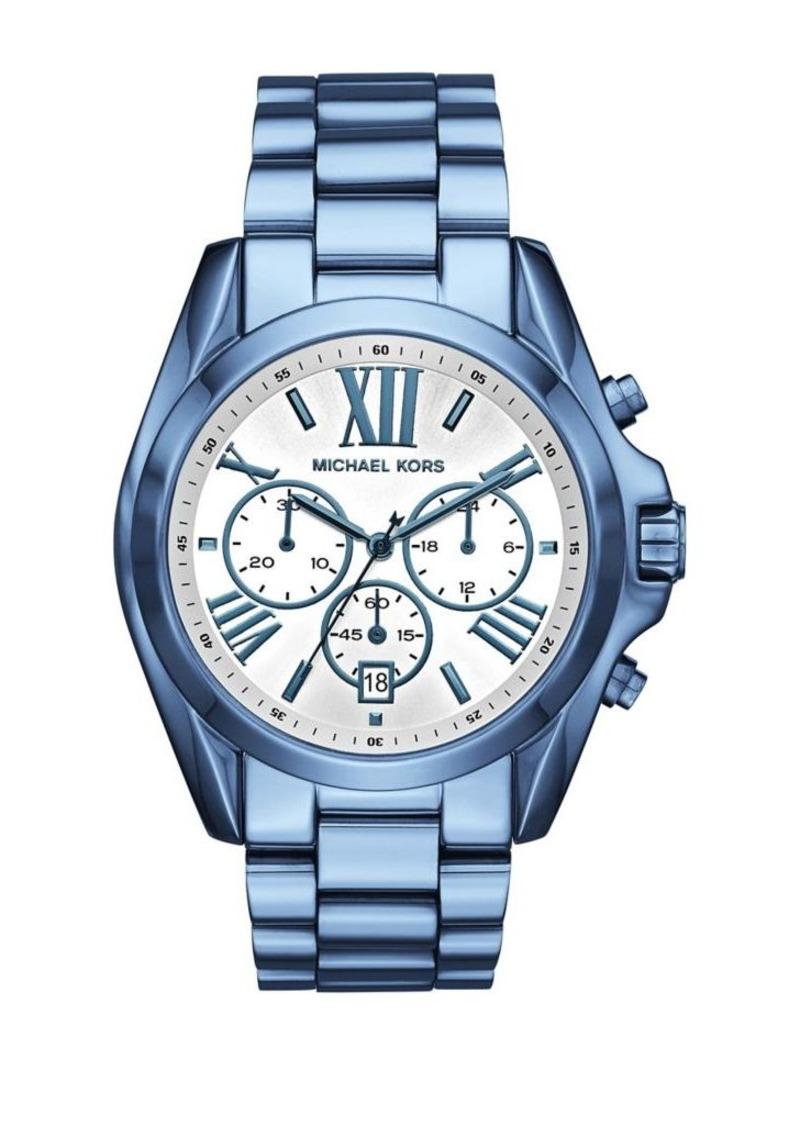 ceee9766cdd6 Jetset Bradshaw Stainless Steel Three-Link Bracelet Watch. Michael Kors