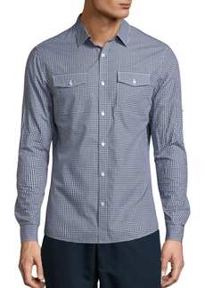 Michael Kors Kent Checked Slim Button-Down Shirt