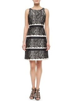 Michael Kors Lace Overlay Bell Dress