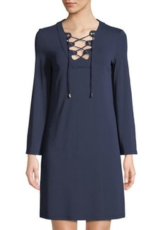 Michael Kors Collection Lace-Up Tunic Dress