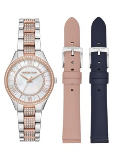 Michael Kors Lauryn 3-Hand Two-Tone Stainless Steel Bracelet Watch