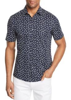 Michael Kors Leaf-Print Short-Sleeve Trim Fit Shirt - 100% Exclusive