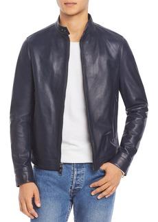 Michael Kors Leather Racer Jacket