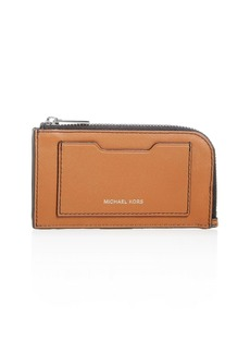 Michael Kors Leather Zip Card Case