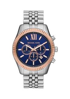 Michael Kors Lexington Stainless Steel 5-Link Bracelet Chronograph Watch