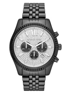 Michael Kors Lexington IP Stainless Steel Bracelet Chronograph Watch