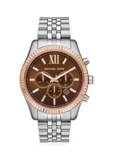 Michael Kors Lexington Stainless Steel Chronograph Watch