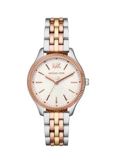 Michael Kors Lexington Three-Hand Tri-Tone Stainless Steel Bracelet Watch