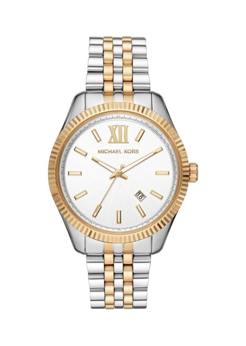 Michael Kors Lexington Two-Tone Stainless Steel Bracelet 3-Hand Watch