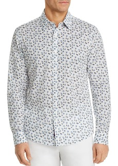 Michael Kors Liberty Harmony Floral Print Button-Down Cotton Shirt