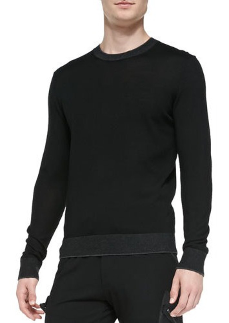 michael kors michael kors lightweight wool pullover sweater sweaters shop it to me. Black Bedroom Furniture Sets. Home Design Ideas