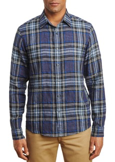 Michael Kors Linen Blend Plaid Shirt