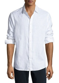 Michael Kors Linen Button-Down Shirt