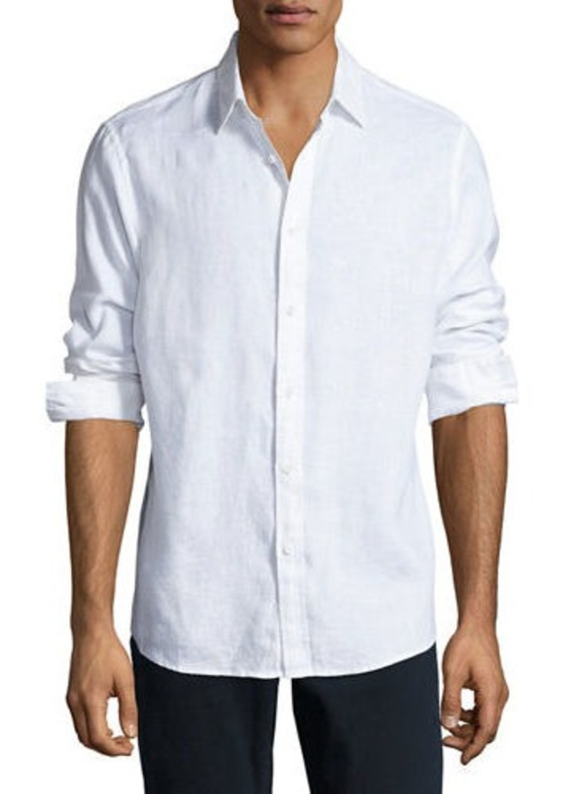 Michael Kors Linen Button-Down Shirt  959322259496a