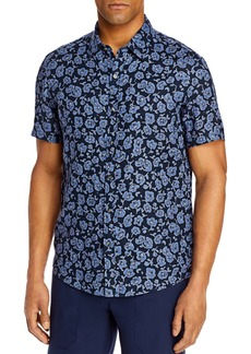 Michael Kors Linen Printed Slim Fit Shirt