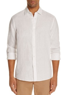 Michael Kors Linen Regular Fit Button-Down Shirt