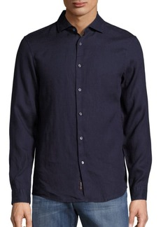 Michael Kors Linen Slim-Fit Shirt
