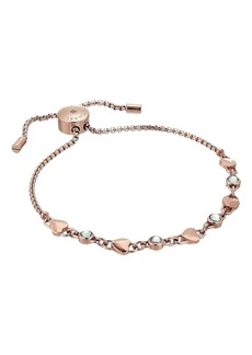 Michael Kors Logo Love Heart Crystal Slide Bracelet