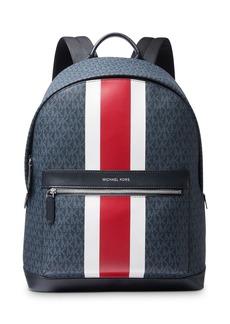 Michael Kors Logo Print Varsity Stripe Backpack