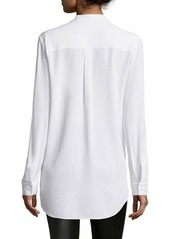 Michael Kors Long-Sleeve Button-Front Blouse
