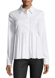 Michael Kors Long-Sleeve Button-Front Shirt