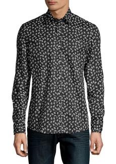 Michael Kors Long-Sleeve Graphic Shirt