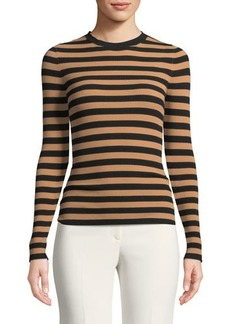 Michael Kors Collection Long-Sleeve Striped Top