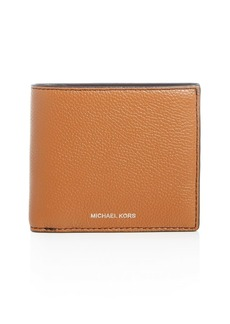 Michael Kors Mason Pebbled Leather Bi-Fold Wallet