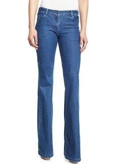 Michael Kors Collection Medium-Wash Flared Jeans