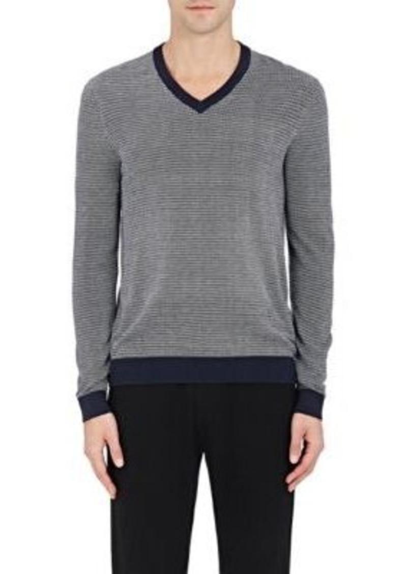 Michael Kors Michael Kors Men's Birdseye-Knit Silk-Cotton V-Neck ...