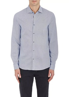 Michael Kors Men's Geometric-Print Cotton Poplin Shirt
