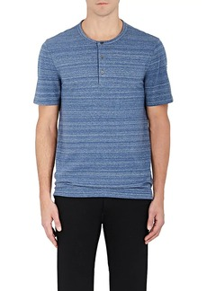 Michael Kors Men's Space-Dyed Cotton Henley