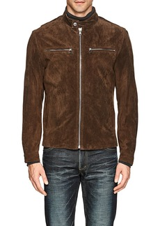 Michael Kors Men's Suede Moto Jacket