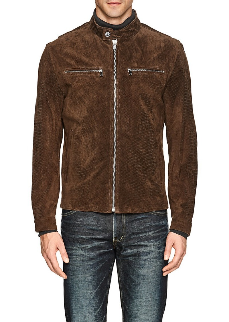 38f30f828 Men's Suede Moto Jacket