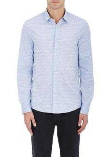 Michael Kors Men's Swiss Dot Cotton Button-Front Shirt