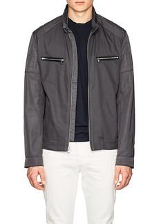 Michael Kors Men's Tech-Twill Moto Jacket