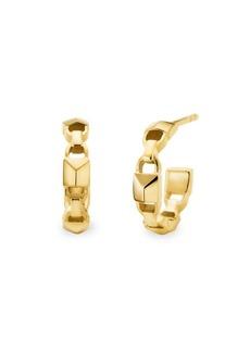 Michael Kors Mercer Link 14K Goldplated Huggie Earrings