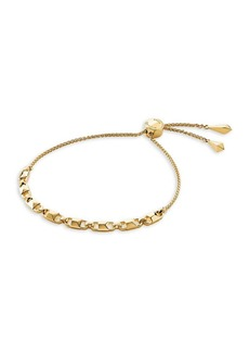 Michael Kors Mercer Link 14K Goldplated Slider Bracelet