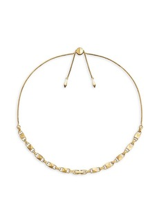 Michael Kors Mercer Link 14K Goldplated Choker Necklace