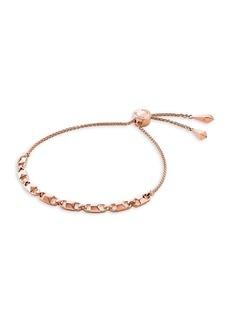 Michael Kors Mercer Link 14K Rose Gold-Plated Slider Bracelet