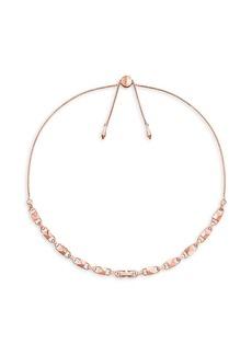 Michael Kors Mercer Link 14K Rose-Goldplated Choker Necklace