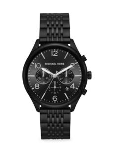 Michael Kors Merrick Chronograph Black IP Stainless Steel Watch