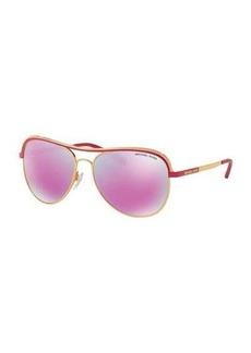 Michael Kors Metal Iridescent Aviator Sunglasses