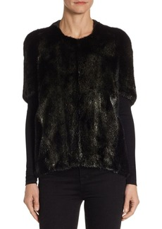 Michael Kors Metallic Mink Fur Jacket