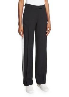 Michael Kors Mid-Rise Straight-Leg Track Pants