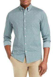 Michael Kors Mini-Dot Stretch Slim Fit Button-Down Shirt