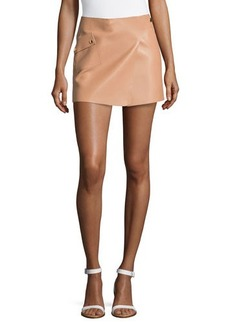 Michael Kors Mini Leather Tennis Skirt