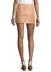 Michael Kors Mini Leather Tennis Skirt